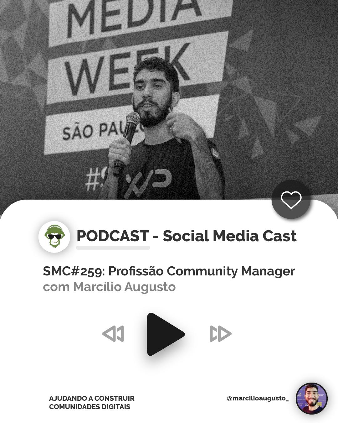 Social Media Cast, o podcast para conversa sobre a profissão community manager